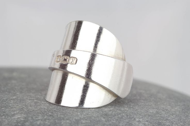 Sterling silver spoon ring ~ vintage silver statement jewellery ~ antique jewellery ~ unique silver ring ~ size M ~ unusual jewellery by AmySquaredJewellery on Etsy https://www.etsy.com/uk/listing/573142595/sterling-silver-spoon-ring-vintage