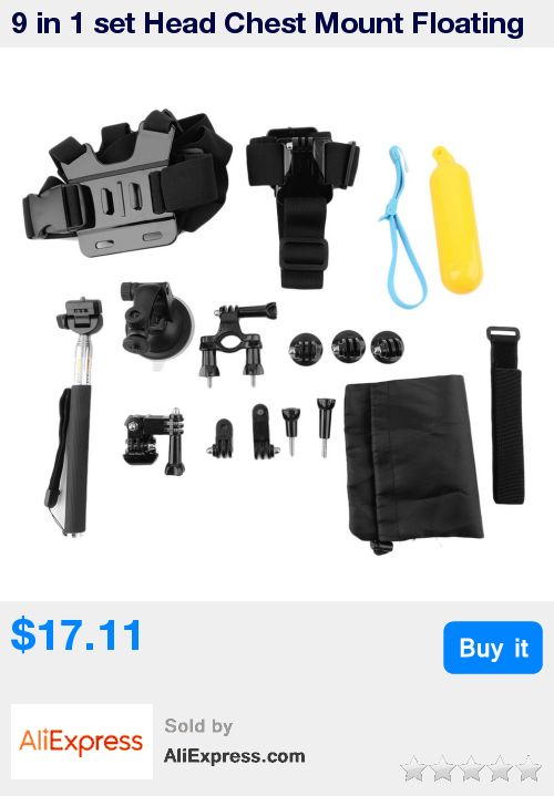 9 in 1 set Head Chest Mount Floating Monopod Pole Camera Accessories Kits for Gopro / Xiaomi Yi / SJ /Sony mini action free * Pub Date: 17:17 Apr 11 2017