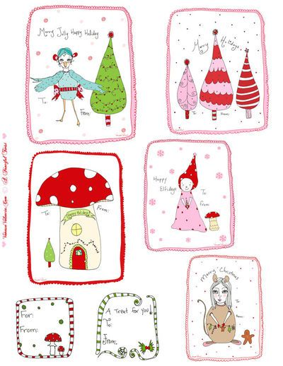 Sunday-someplace-elses – christmas tags and labels | scrappystickyinkymess