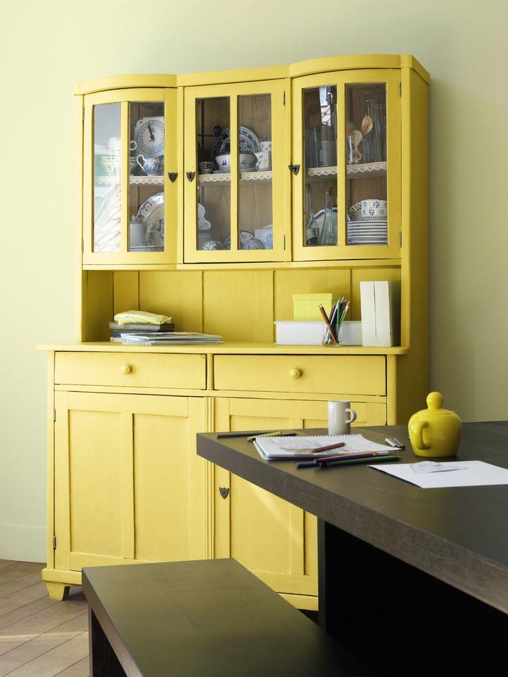 Keuken Groen Schilderen : DIY Yellow Furniture