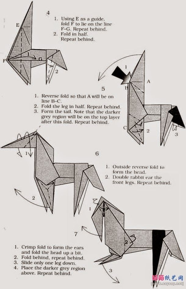 Origami Horse Instructions Origami Llatok Pinterest Origami