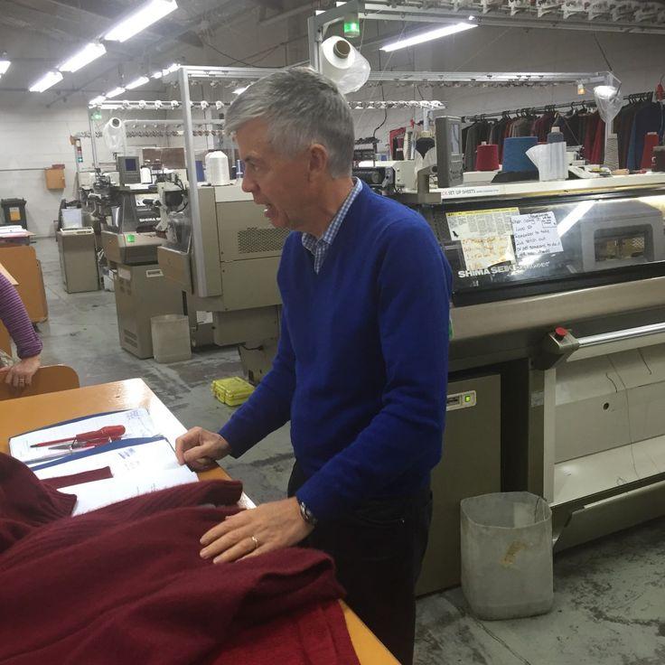 Owner Hugh at Weft Knitting Factory - Christchurch