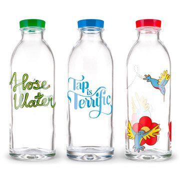 Faucet Face Glass Water Bottles