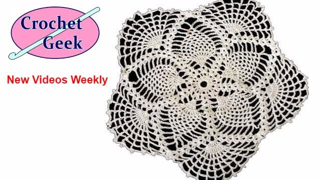 How to #Crochet Lace Pineapple Doily Tutorial #CrochetGeek