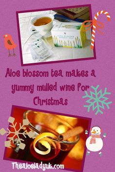 make a simple yummy mulled wine this Christmas with forever living aloe blossom tea. www.thealoeladyuk.com