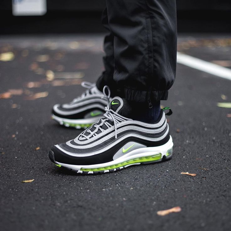 Release Date : October 28, 2017 Nike Air Max 97 OG Black / Volt Credit : Sneakersnstuff