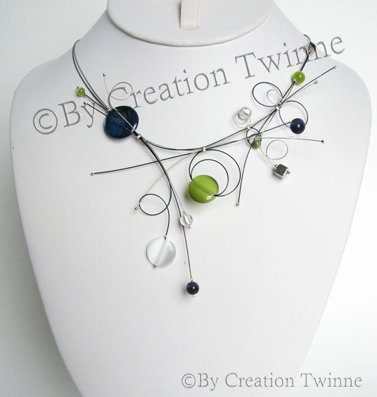 45$, ETSY 10 % DISCOUNT PROMOCODE IS PIN10, BUY IT HER: https://www.etsy.com/listing/67191769/bridesmaids-gifts-navy-blue-lime-green?ref=shop_home_active_4, bridesmaids gifts , navy blue lime green necklace, wedding bridesmaids gifts , navy blue lime green necklace, wedding jewelry , bridesmaid necklace, delicate necklace , funky jewelry , mother gift, by creationtwinne #bridesmaidsnecklace #bridaljewellry #weddingnecklace #weddingfavors #giftforher #motherdaysgift #graduationjewelry…