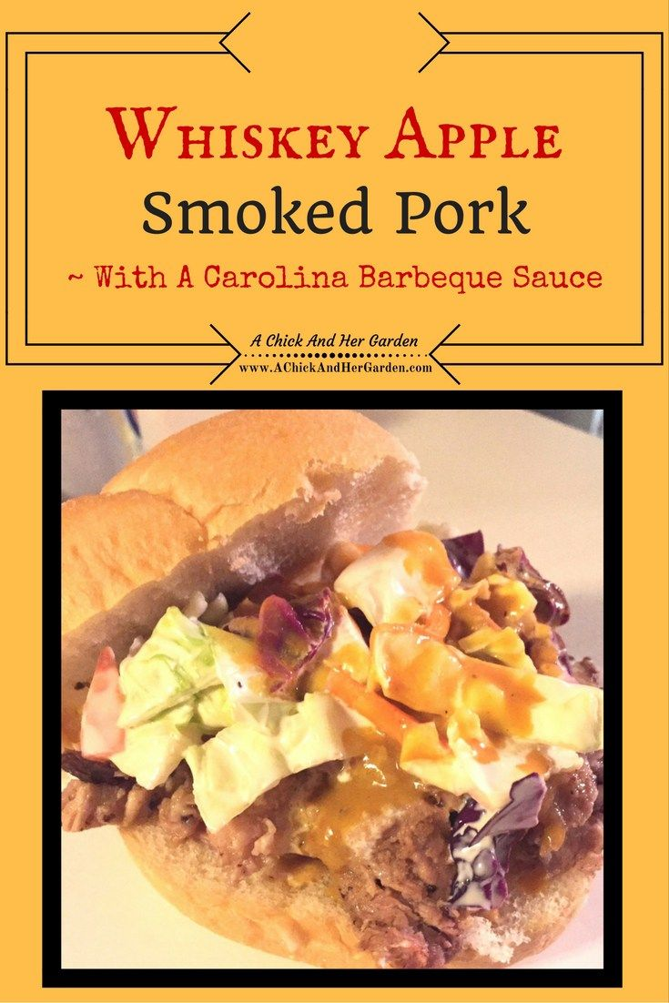 Whiskey Apple Smoked Pork ** This page contains affiliate links. Purchasing from these helps to support our site, giving us a small commission without increasing the rate you pay. Thank you for your support of A Chick And Her Garden! ~ Staci This year for Christmas, Nick had an unexpected request.  A smoker.  I know, …