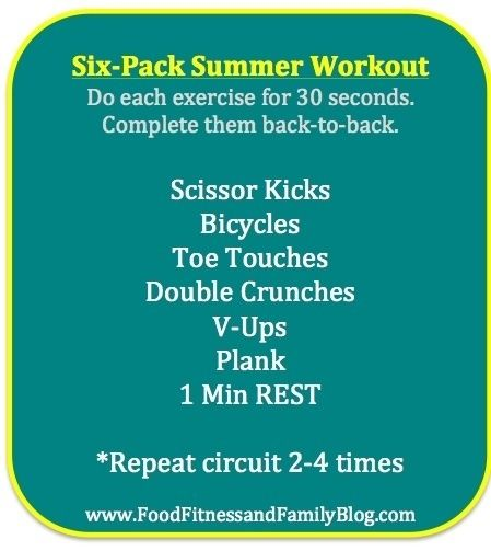 Six-Pack Summer Abs Workout  Via @FoodFitandFam tammylizasdj6 jacintaxiq