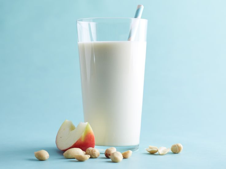 Apple-Nut Smoothie Recipe: This fiber-packed smoothie is a perfect after-school snack. Try a tablespoon of wheat germ instead of the peanuts for a nut-free alternative (nutrients will change).