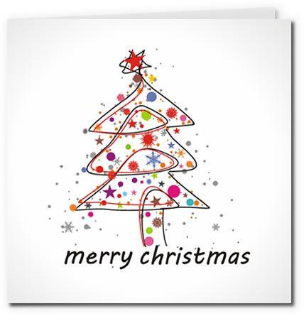 free printable christmas templates greetings | Colorful Modern Christmas Tree Design