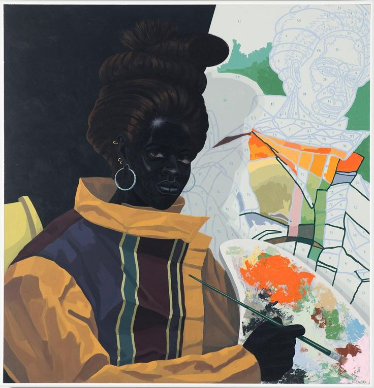 """Kerry James Marshall: """"I started to recognize that the first principle of psychological well being is not requiring a transformation in somebody else, in order for you to realize your objectives. That's the first principle of psychological well being: that you can't make somebody else behave well before you can do what you've got to do."""" Kerry James Marshall: Mastry at MOCA Grand closes today; the museum is offering free admission in celebration of the exhibition's run! Thank you so much…"""