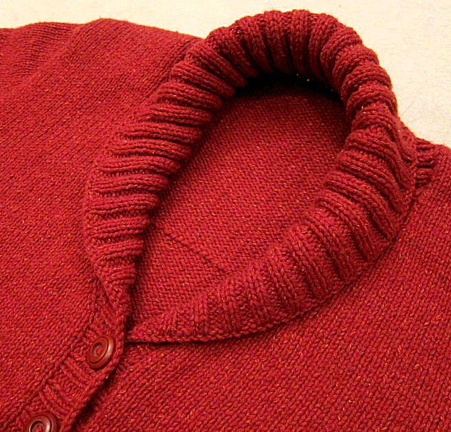 Tichiro - knits and cats · Einen Schalkragen stricken