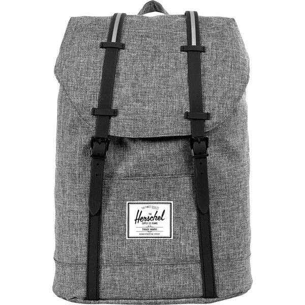 Herschel Supply Co. Retreat Laptop Backpack ($65) ❤ liked on Polyvore featuring bags, backpacks, black, laptop backpacks, strap bag, backpacks bags, herschel supply co backpack, laptop rucksack and metal backpack