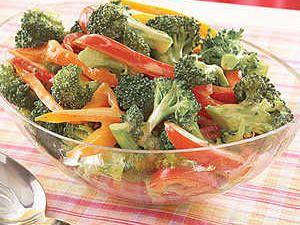 Broccoli and Bell Pepper Salad Recipe | MyRecipes