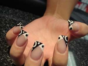 679c0 Nail Designs Acrylic Nails Acrylic Nail Designs: French Manicures, Black And White, Black Nails, Acrylics Nails Design, Black White, White Nails, French Tips, Nails Art Design, Art Deco
