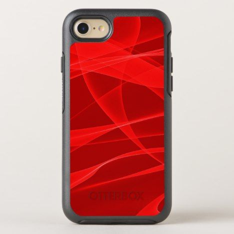 Red fractal design OtterBox symmetry iPhone 8/7 case