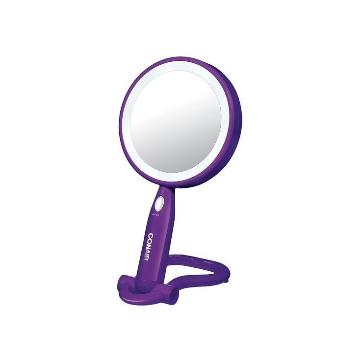 Conair Lighted LED Mirror, Purple