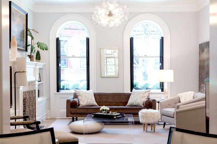 A beautiful brownstone renovation in hoboken rue for Beautiful neutral paint colors