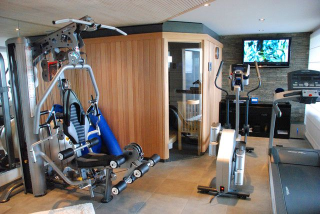 Home Gym Design: Small Home Gym & Sauna Design With Less Space.....just