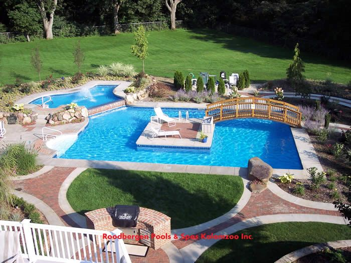 Customized Backyard Paradise #pools #house #homes #home #ideas #landscaping  #