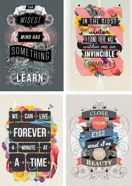 Lottie Loves...: {Type} Beautiful Typographic Prints