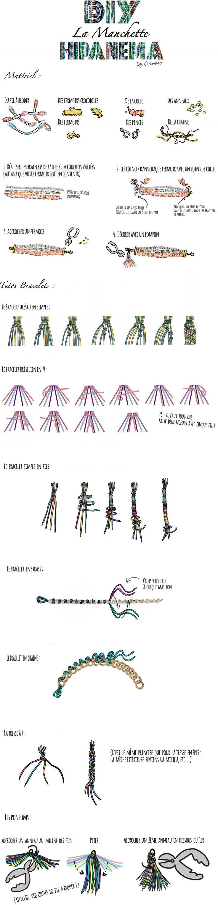 tuto bracelet Hipanema DIY
