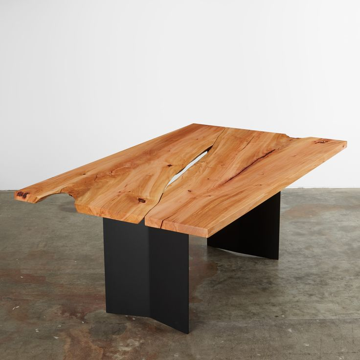 This madrone reverse matched tabletop with a natural edge void and a reveal  is shown with a black steel chevron fin base  We salvaged this tree in  Seattle. 27 best UH Dining Room Tables images on Pinterest   Dining room