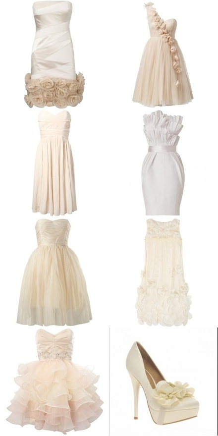Short wedding dresses.