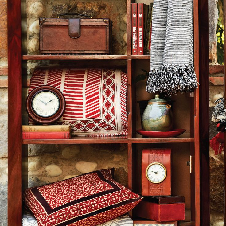 #giftware #clocks #leather #red #black #shelves #home #lifestyle #Fabindia #decor #ceramics #quilts #accessories #
