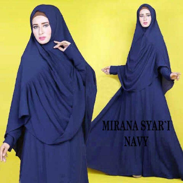 Gamis Syar'i Modern MIRANA SYARI NAVY - http://warongmuslim.com/gamis-syari/gamis-syari-modern-mirana-syari-navy/