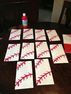 DIY Baseball treat bag