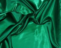 """Sparkle diaphane de semi Satin vert émeraude, large de 45"""". tissu, reconstitution historique, robes de danse irlandaise, formelle, artisanat, décoration"""