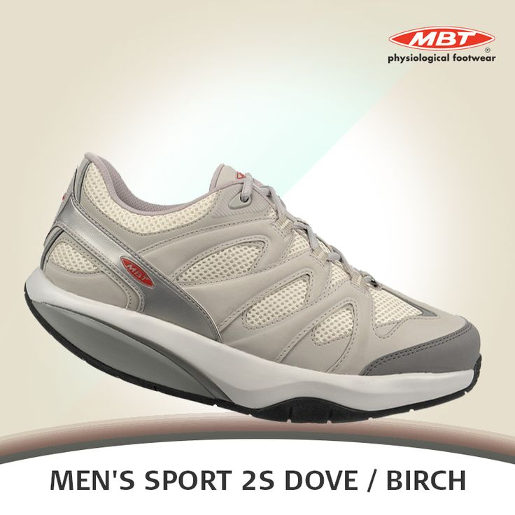 The MBT Men's Sport 2S Dove / Birch is our approach to the sports fashion, where performance meets fashion. Fabricated with breathable mesh and sporty cut and sew panels with metallic taping for a futuristic sporty look.