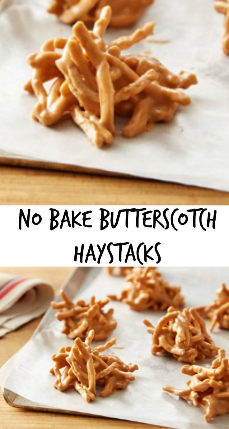 how to make haystacks butterscotch