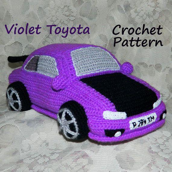 034 Amigurumi Automuster. Gehäkelter Toyota Corolla Violet. Vatertagsgeschenk. Personilzed handgemachtes Handwerksgeschenk SOFORTIGER DOWNLOAD – S D