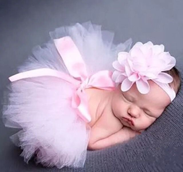 Photo shoot for newborn baby tutu girl skirt + headband pink | Infant,…  – GIRLS FASHION