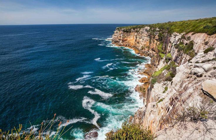 View from wedding cake rock royal national park, NSW - on section of The Coast Track near Wedding Cake Rock, a popular spot south of Bundeena