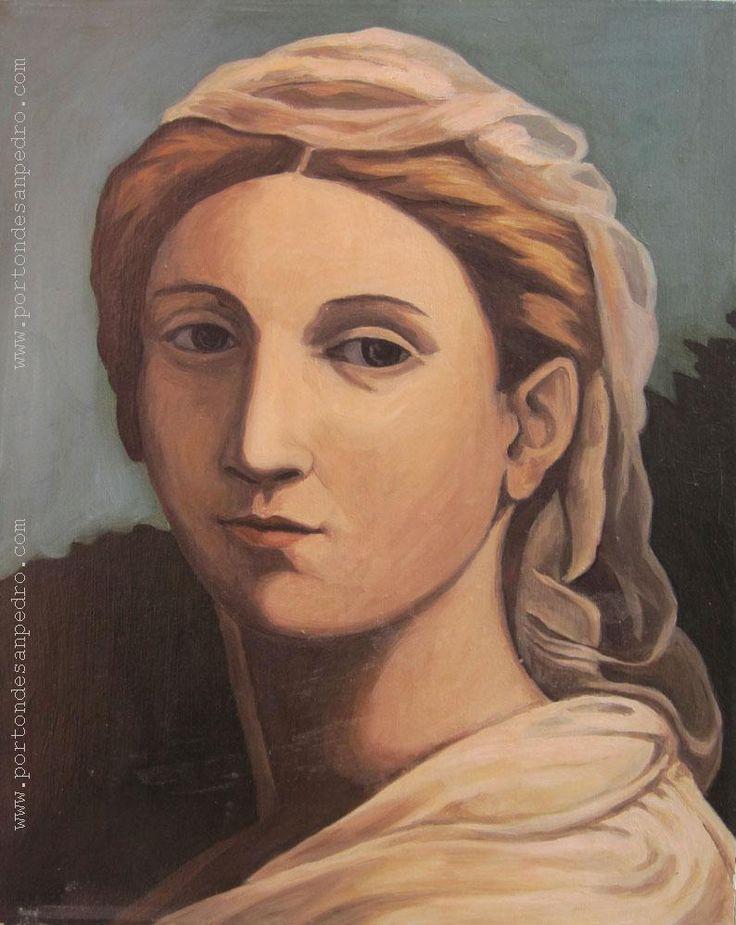 "Pablo Felipe Villegas Mañé ""Retrato VII"" Óleo sobre tela 47 x 38 cms.  http://www.portondesanpedro.com/ver-producto.php?id=13563"