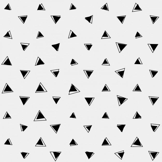 Grey background with black triangles Free Vector