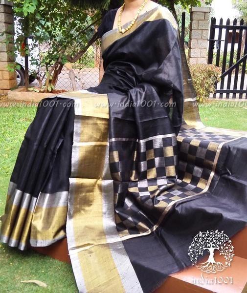 Stunning Dupion Silk Saree with Woven Patterns