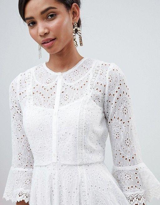 460cdf84583 French Connection Broderie Mini Dress   Kurti Unique   Dresses ...
