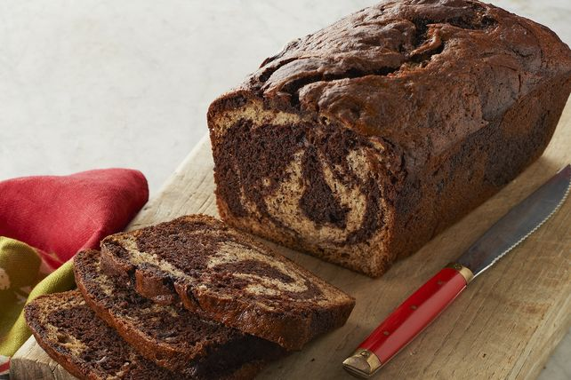 How do you make homemade banana bread even better?  Add in some chocolate and make a Chocolate-Marbled Banana Bread.  Try it - you'll love it!
