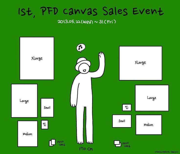 1st, PFD Canvas Sales Event_poster