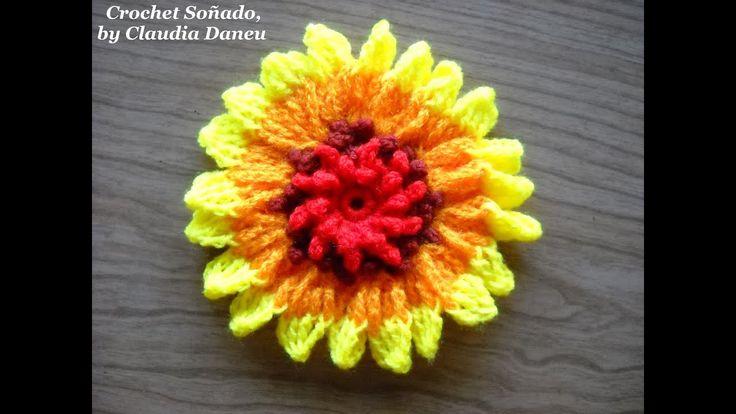 """GAILLARDIA """"BLANKET FLOWER"""" CROCHET / GALLARDÍA FLOR CROCHET"""