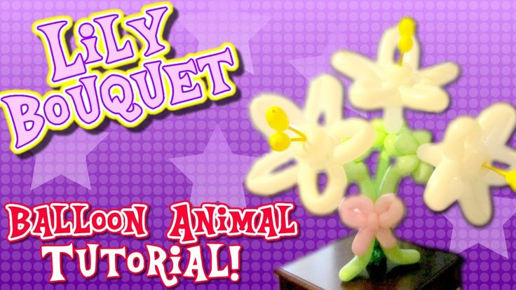 Lily Balloon Flowers for Mother's Day! - Balloon Animals with Holly the Twister Sister!