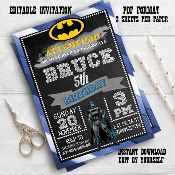 Instant Download-Batman InvitationBatman Invitation