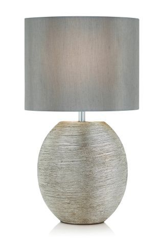 Buy Ceramic Scratch Silver Table Lamp from the Next UK online shop