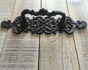 Schuur deur greep Cast Iron rustieke grote Vintage door TuscanIron