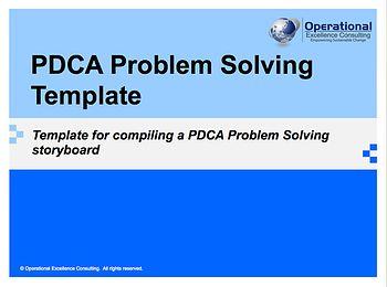 PDCA Problem Solving Template